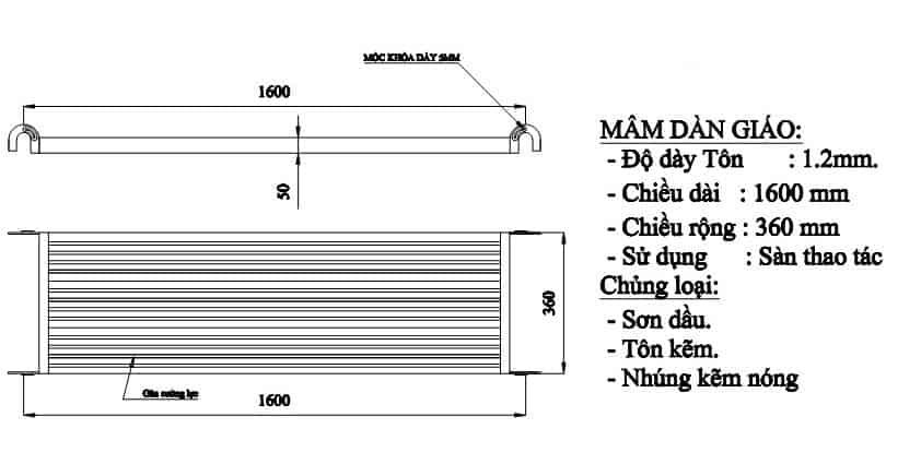 Mâm giàn giáo tiêu chuẩn BS1139 là gì?