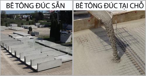 Sự khác biệt giữa bê tông đúc sẵn và bê tông đúc tại chỗ