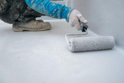 Thi công 1 lớp sơn lót bê tông